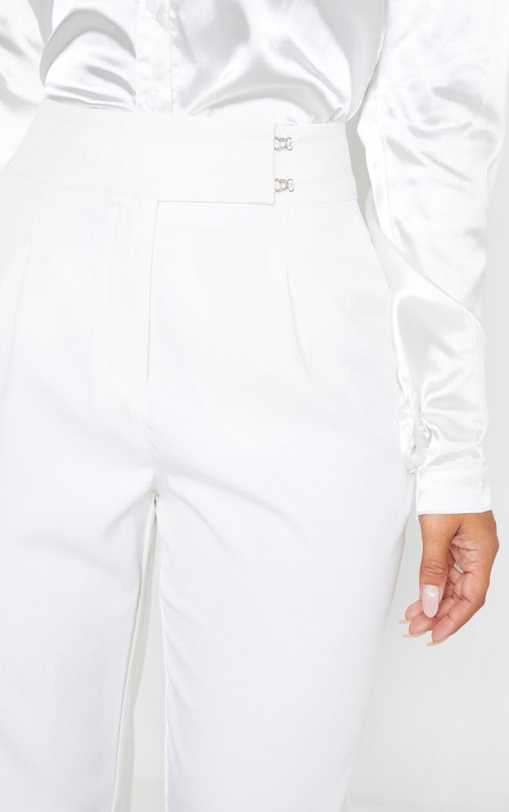 White Woven Cigarette Pant 5