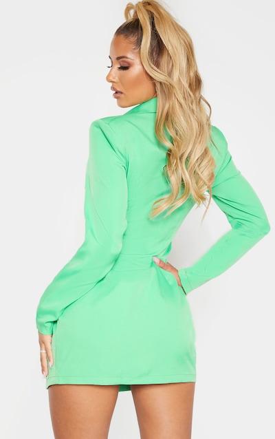 Green Wrap Detail Blazer Dress
