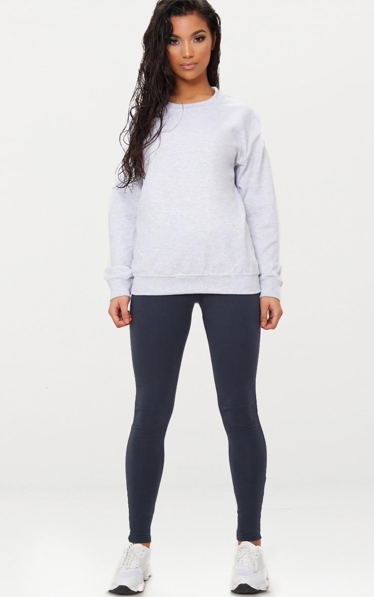 Recycled Ash Grey Oversized Sweatshirt 3