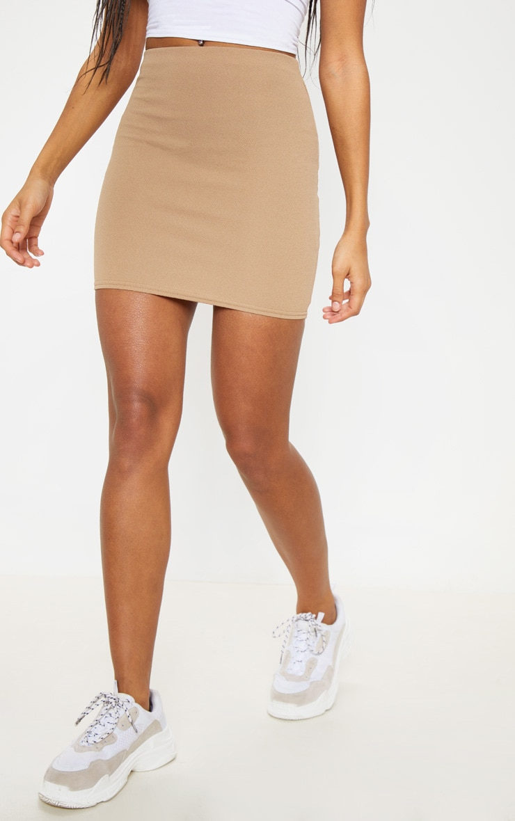 Camel Mini Suit Skirt 2