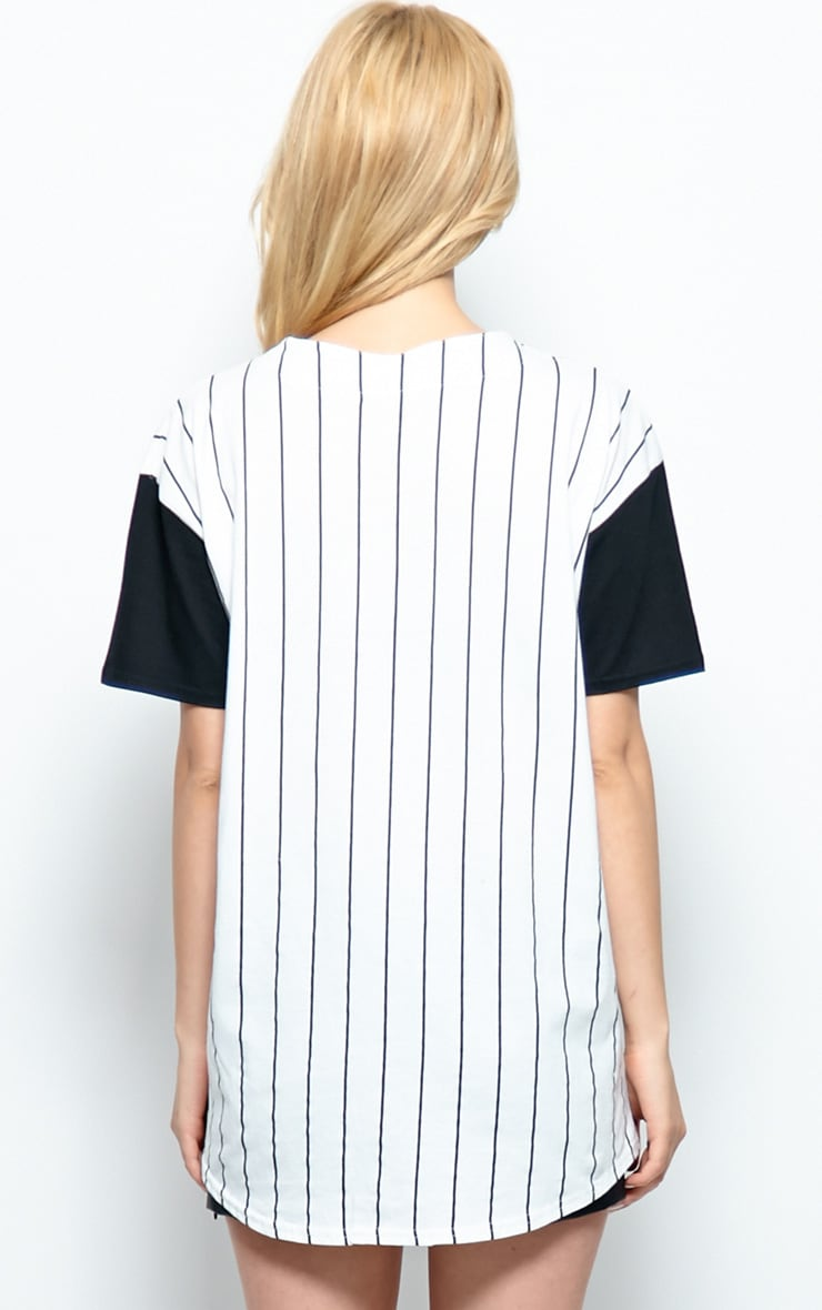Winston Black & White 'Player' Baseball T-Shirt 2