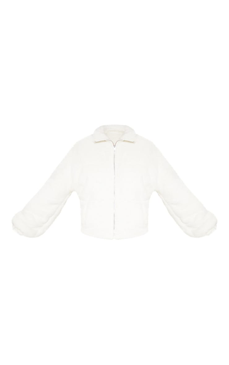 Cream Faux Fur Zip Through Bomber 3