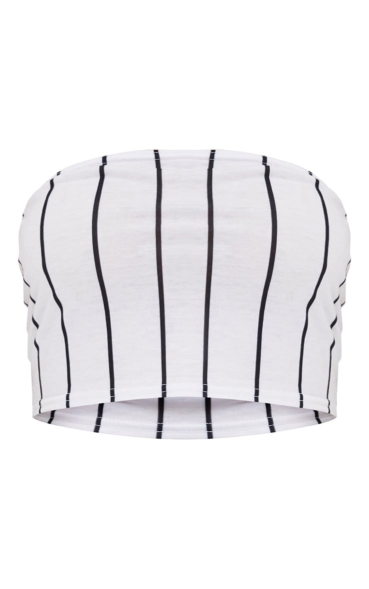 White Stripe Bandeau Top 3