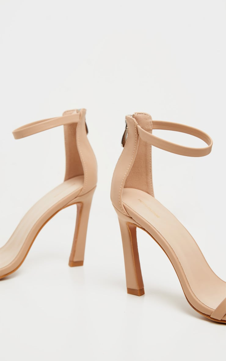 Nude Curved Heel Strappy Sandal 4