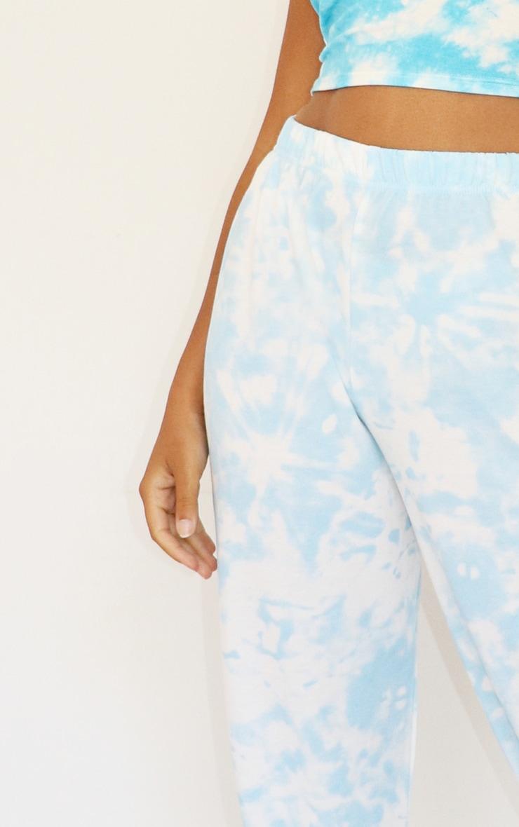 Petite - Jogging basique bleu ciel imprimé tie & dye resserré aux chevilles 4