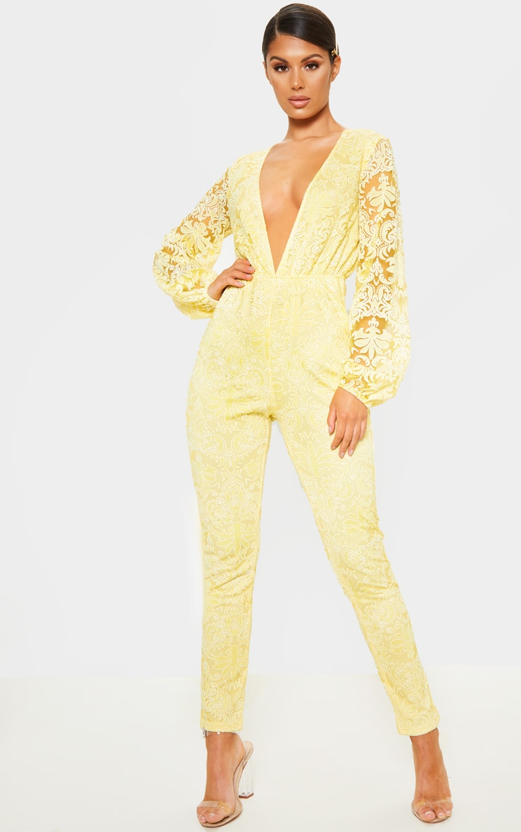 6b71c01cfe The Yellow Paisley Tile Print Bardot Playsuit. Head online and shop ...