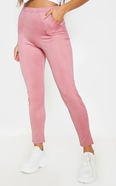 Rose Crepe High Waist Pocket Cigarette Trouser