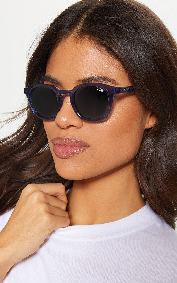 cdff730f0c QUAY AUSTRALIA Blue Walk On Sunglasses image 1