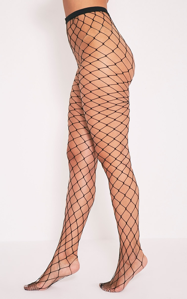 Inari Black Large Fishnet Tights 4