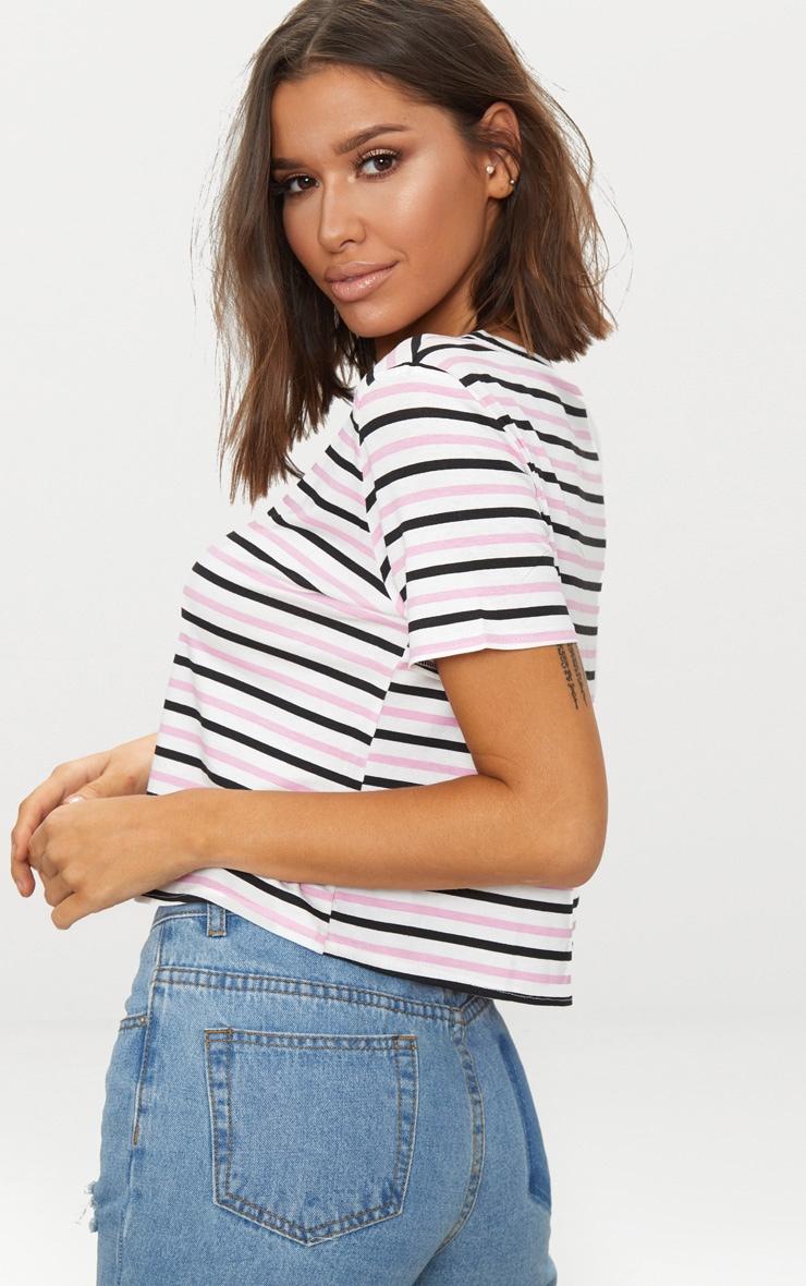 Baby Pink Stripe Swing T Shirt  2