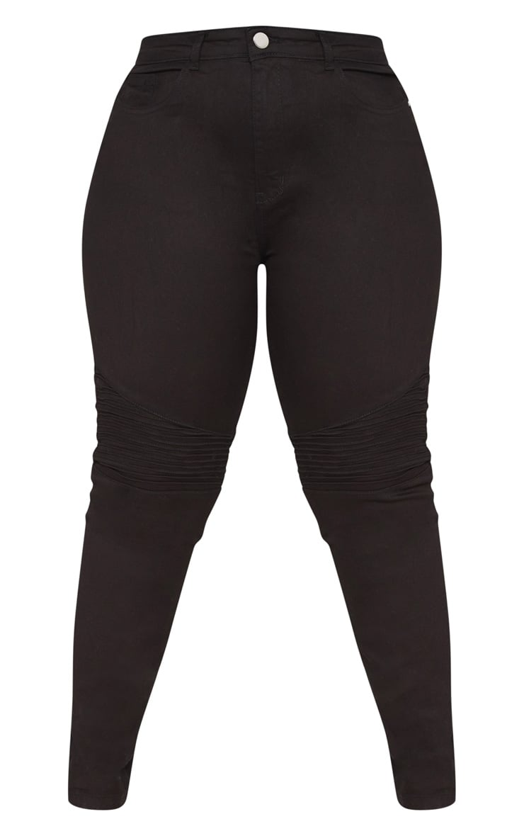 Plus Black Biker Jeans 3