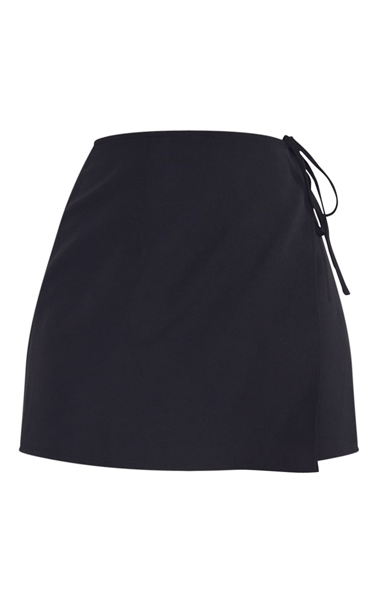 Petite Black Tie Waist Skirt 6