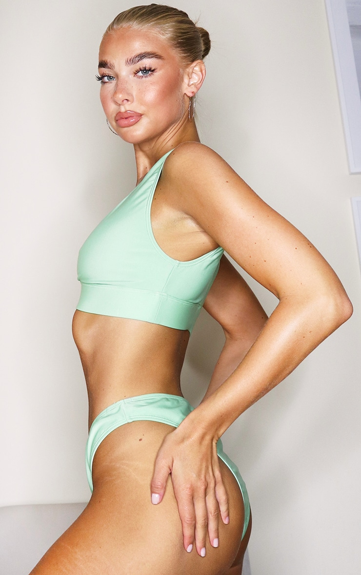 Sage Green Mix & Match Plunge Bikini Top 3