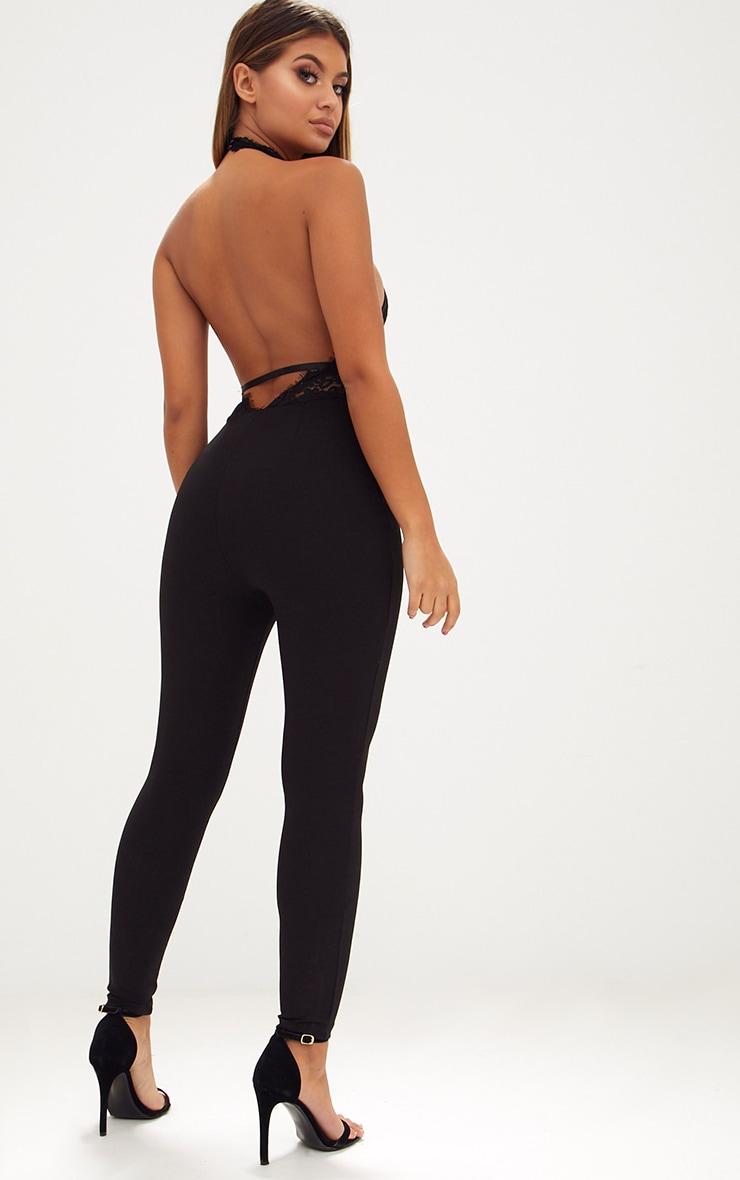 Black Lace Harness Jumpsuit 2