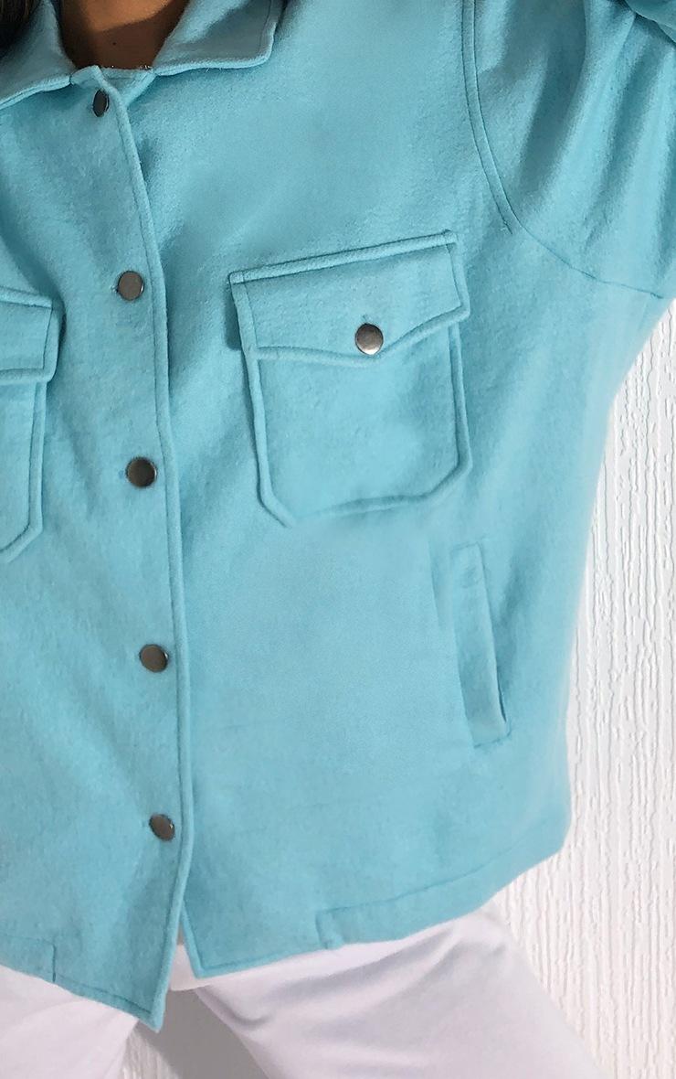 Turquoise Pocket Front Shacket 4