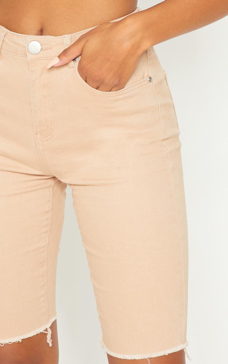 Nude Skinny Long Shorts 6