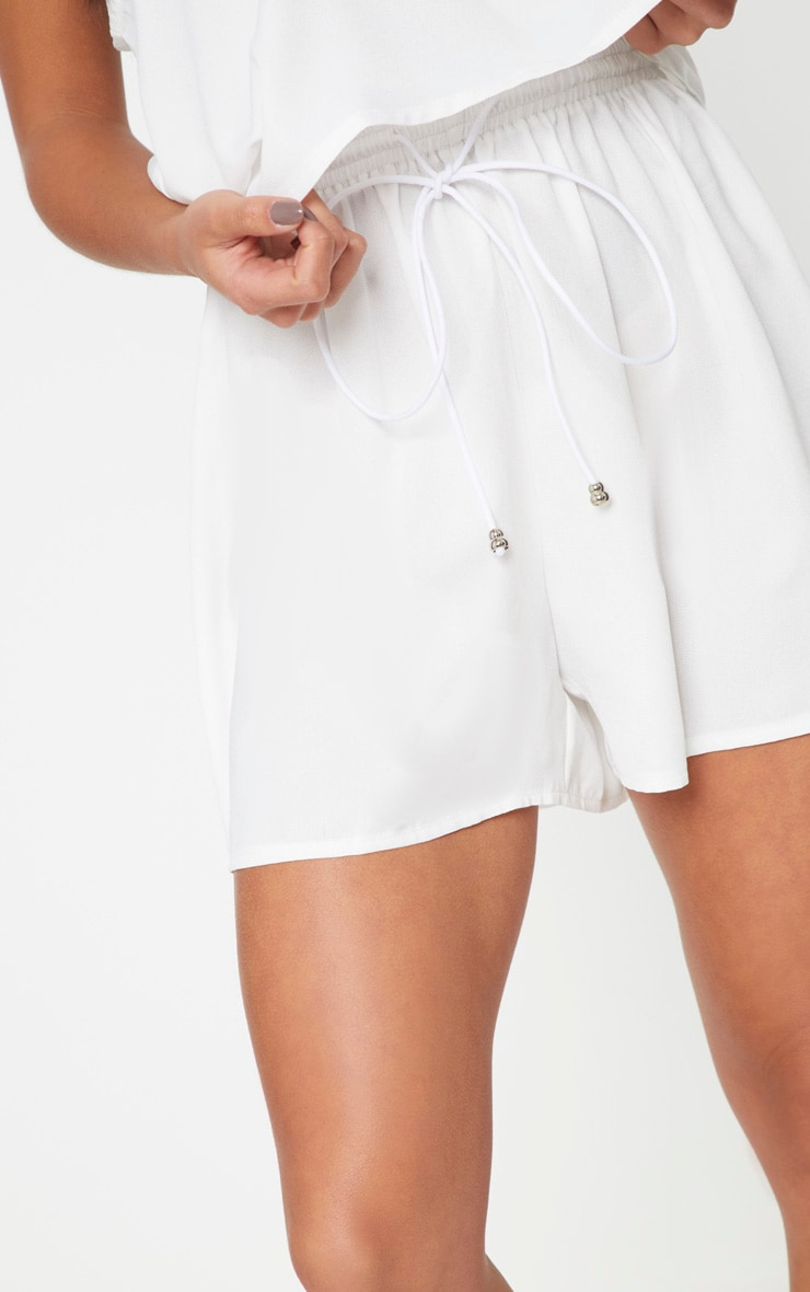 White Petite Floaty Shorts 6