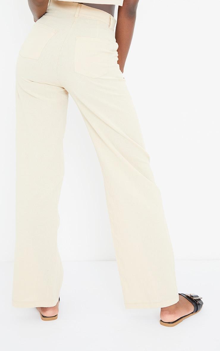 Tall Stone Linen Look Wide Leg Pants 3