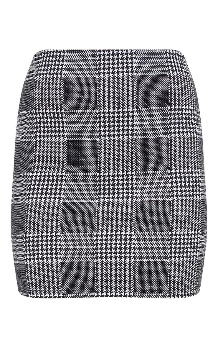 Black Check Mini Skirt   3