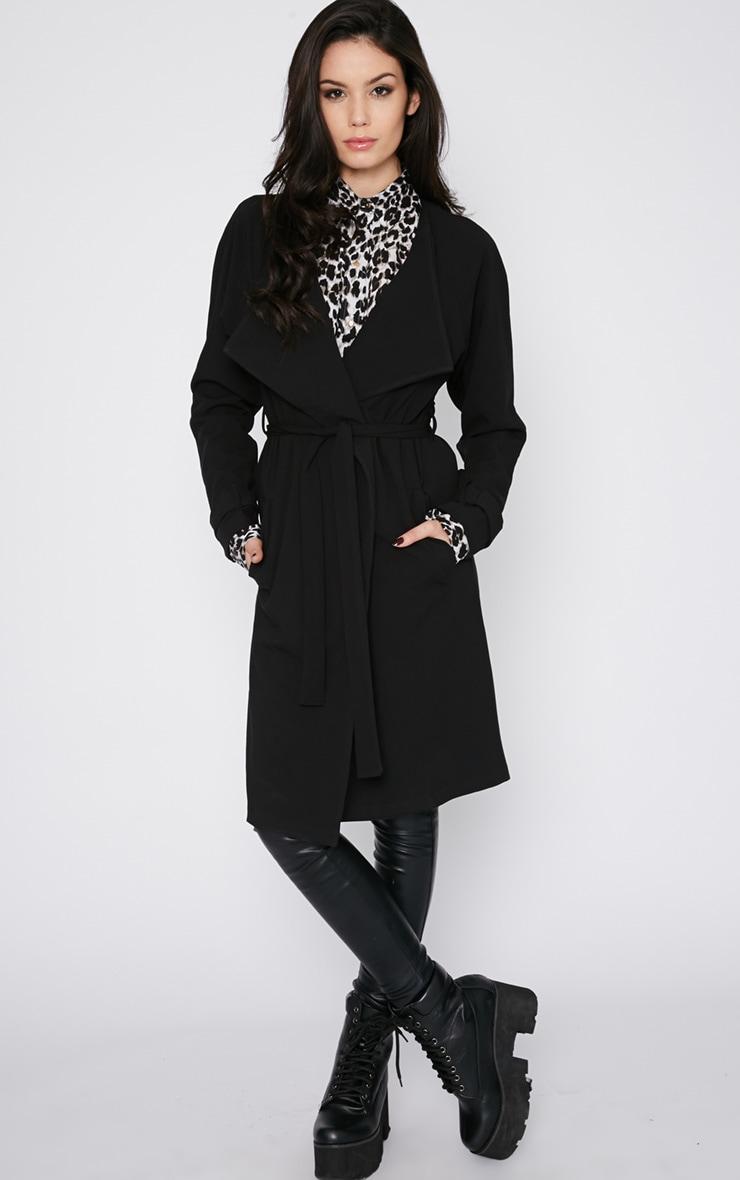 Ashia Black Trench Coat 6