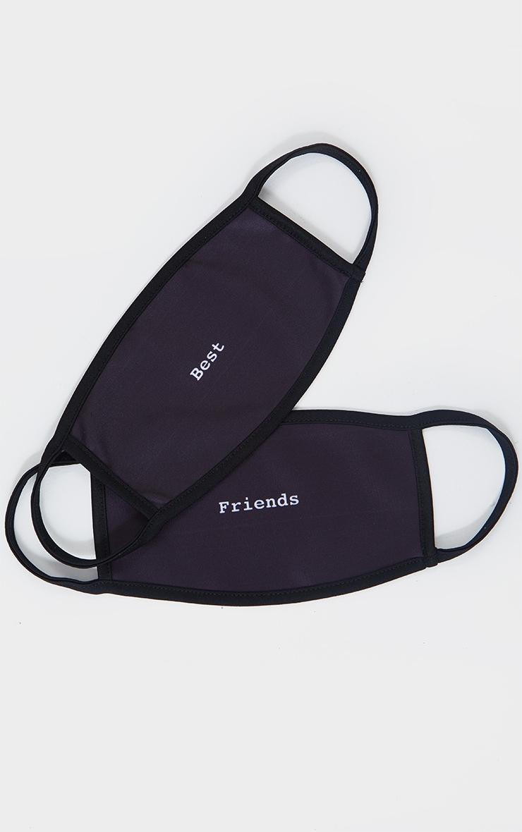 Best Friends 2 Pack Black Fashion Masks 1