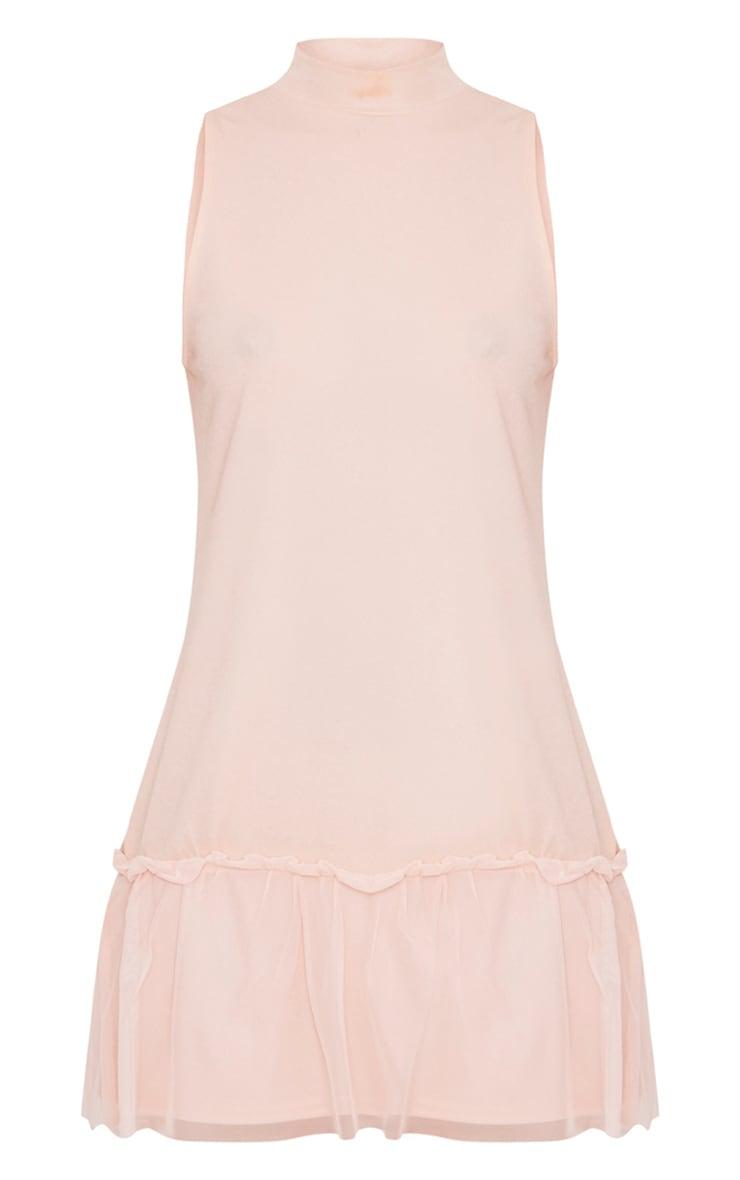 Brogan Nude Mesh Detail Shift Dress 3