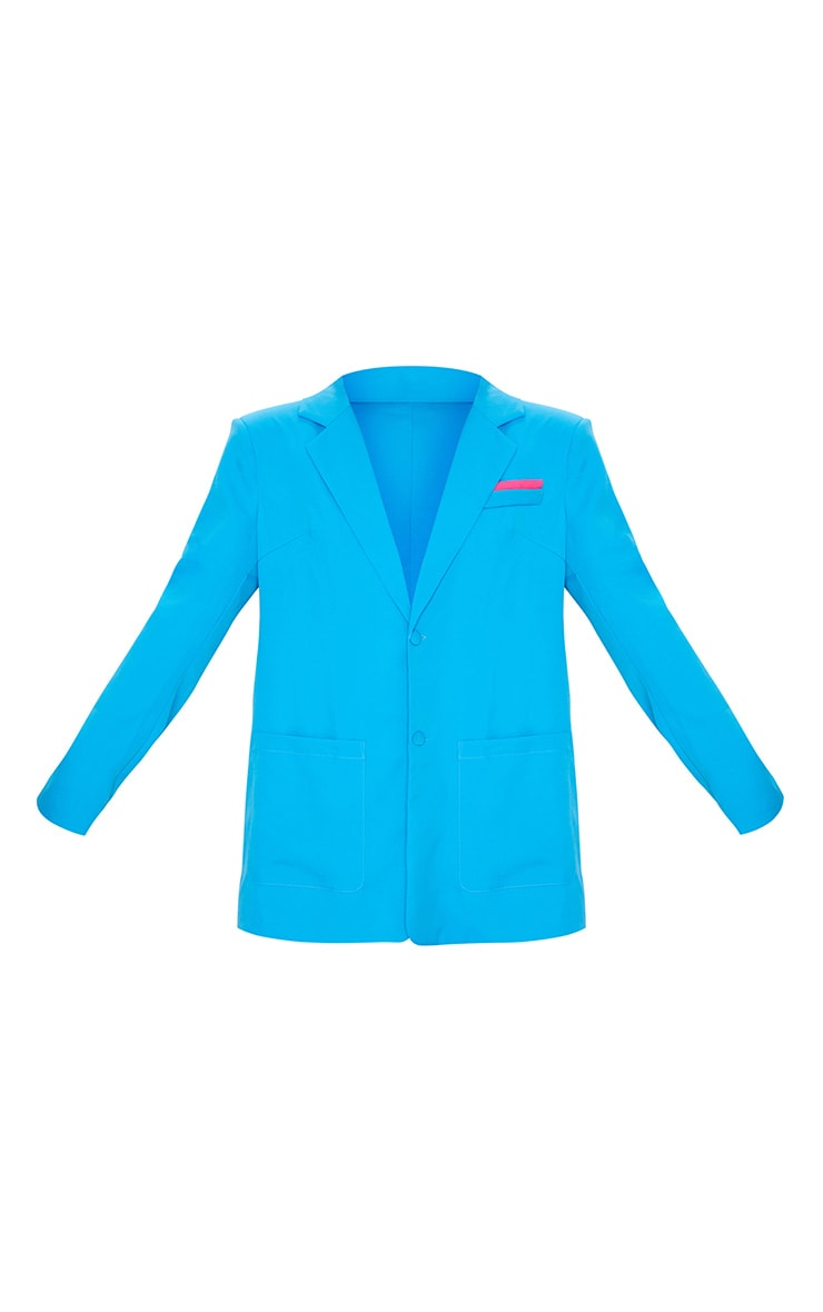 Bright Blue Extreme Oversized Blazer 5