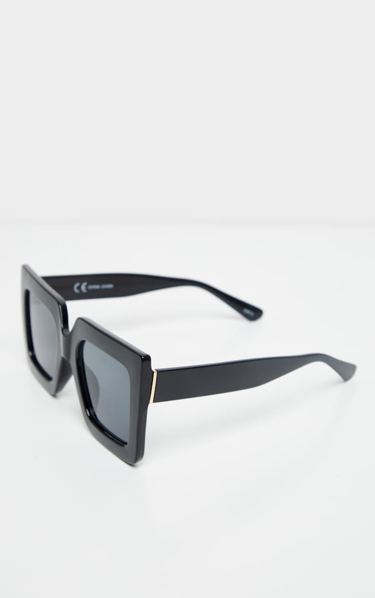 Black Square Oversized Frame Sunglasses 2