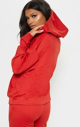 PRETTYLITTLETHING Red Embroidered Oversized Hoodie 2