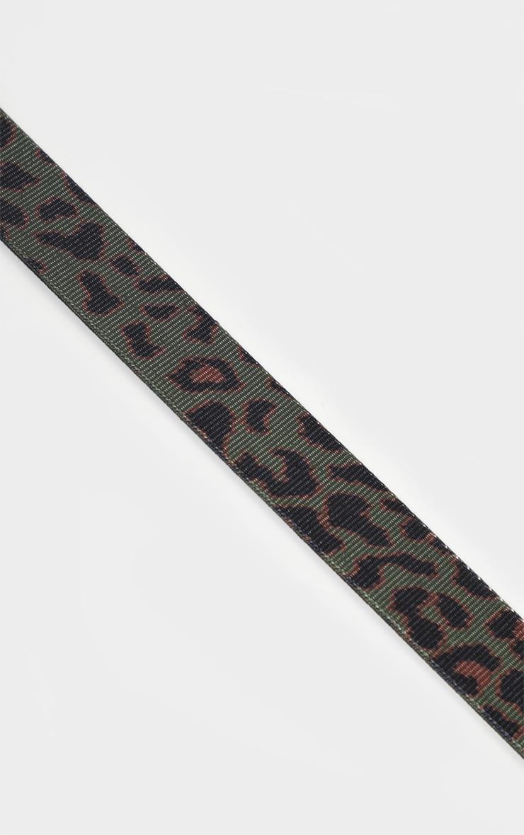 Khaki Leopard Tape Belt  3