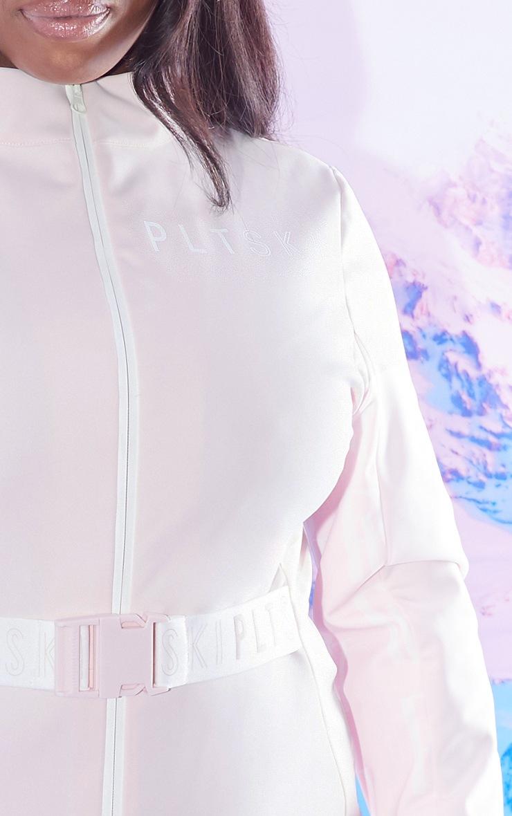 PRETTYLITTLETHING Plus Ski Pastel Pink Print Ski Suit 4