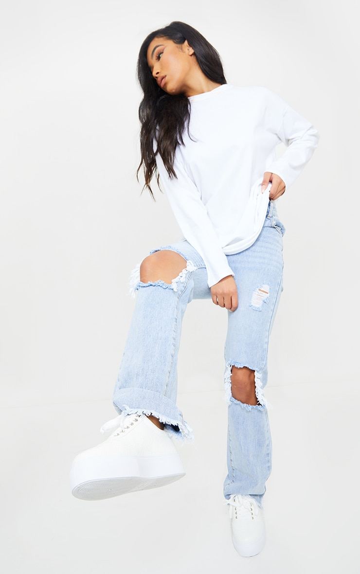 White Croc Lace Up Flatform Sneakers 2