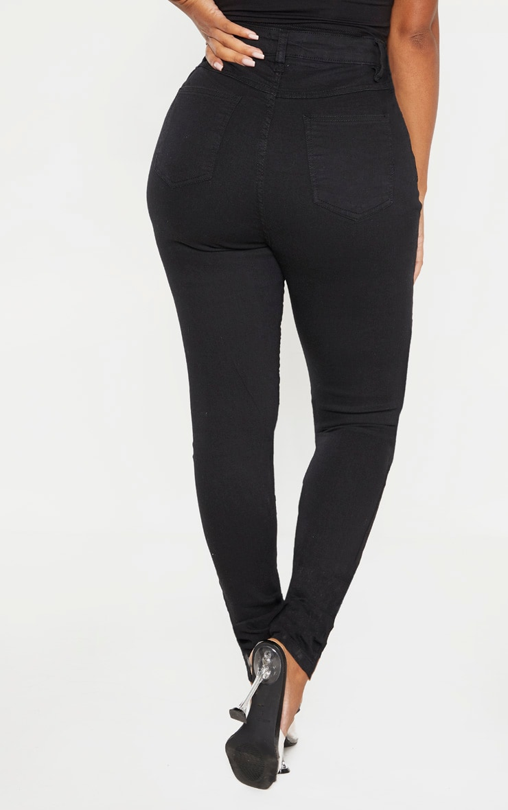 Shape Black High Waist Super Stretch Skinny Jeans 4