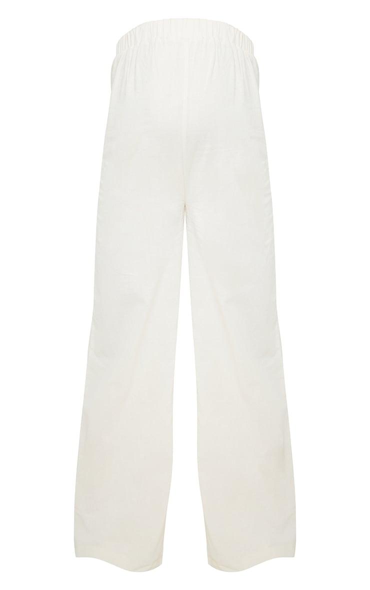 Maternity Stone Wide Leg Linen Look Pants 5