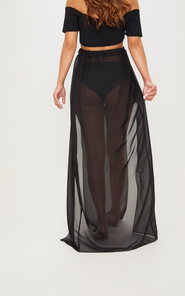 Petite - Jupe longue noire en mesh 4