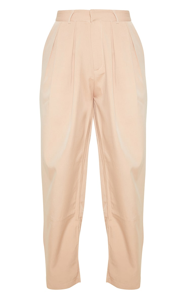 Camel Woven High Waisted Cigarette Trousers 5