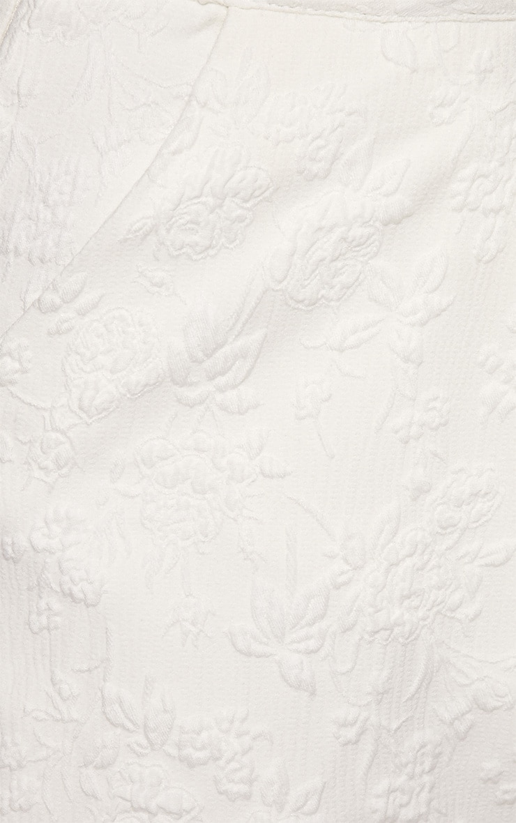 Tasha White Embroidered Skort  3