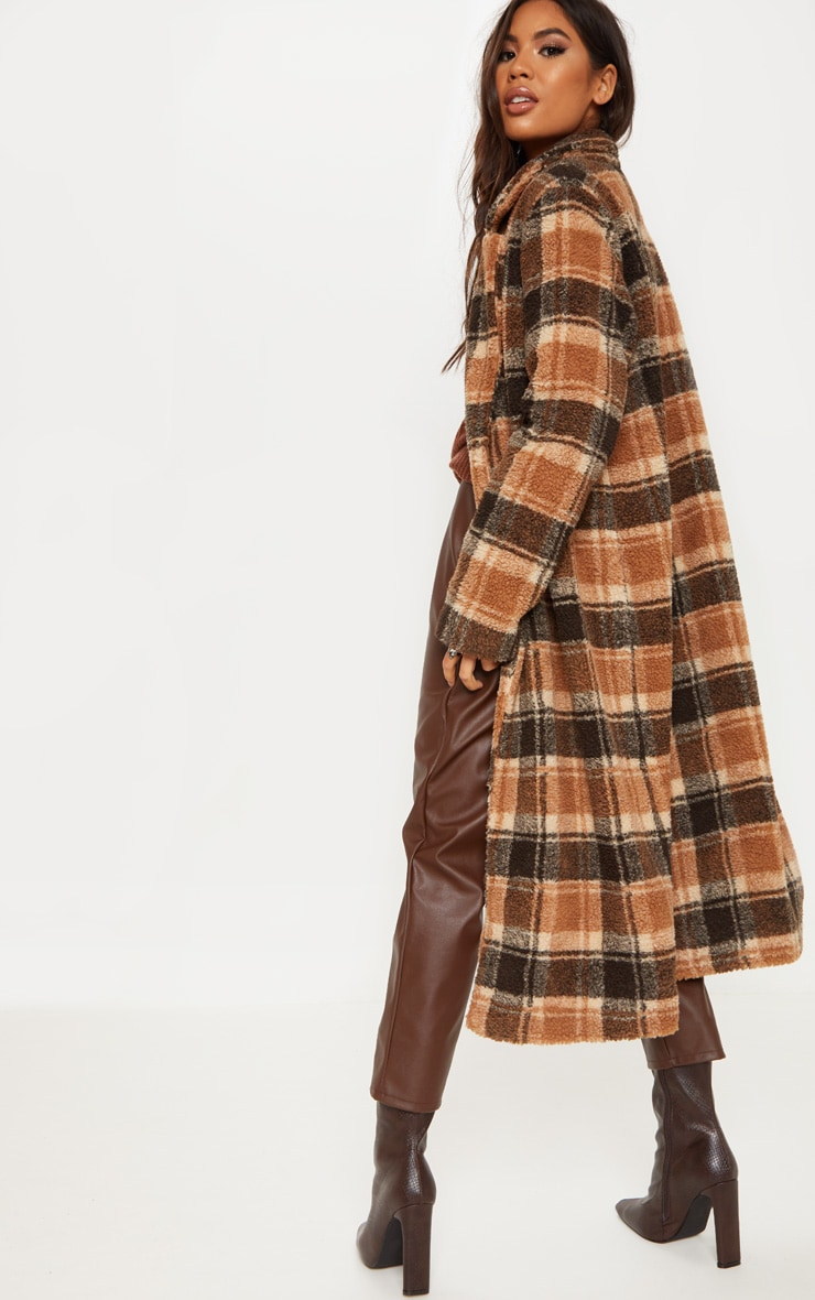 Stone Borg Checked Coat 2