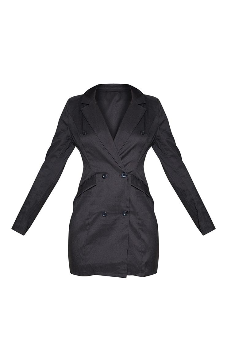Tall Black Trench Blazer Dress 3