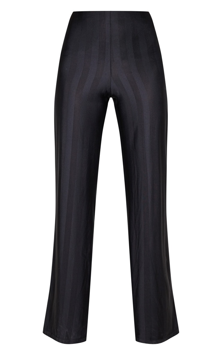Black Disco Stripe Casual Wide Leg Trouser 3