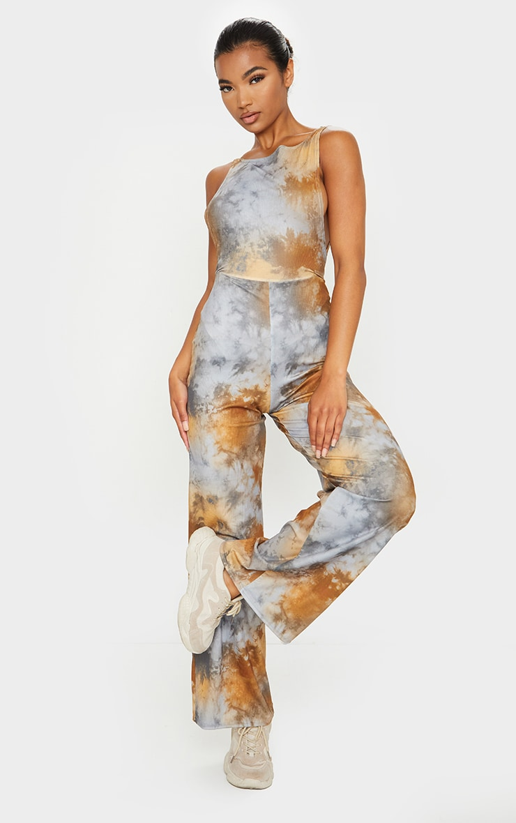 Multi Tie Dye Side Boob Jumpsuit 4