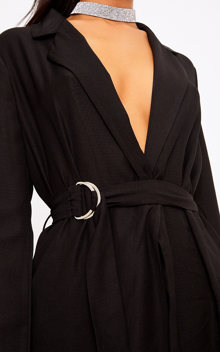 Romilly Black Belted D Ring Detail Blazer 5