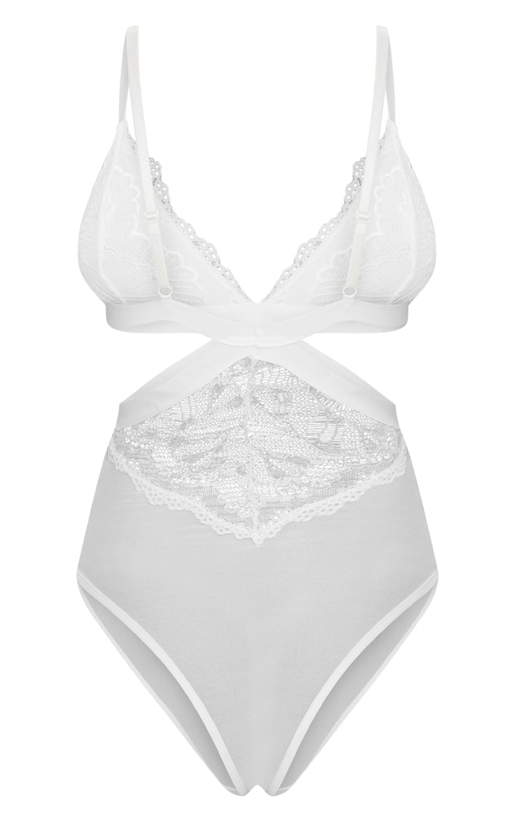 White Cut Out Lace Body 4