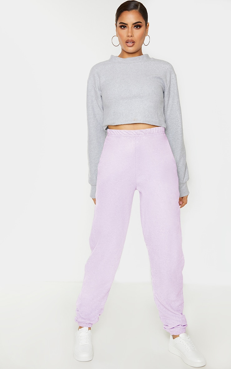 Tall Lilac Basic Cuffed Hem Joggers 1