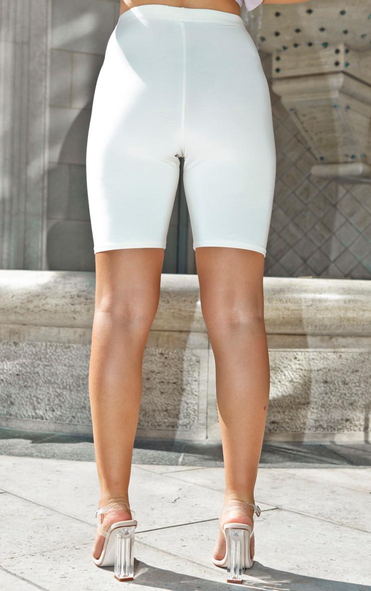 Short-legging écru taille haute 4