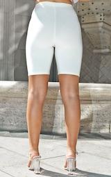 Ecru Slinky High Waisted Bike Shorts 4