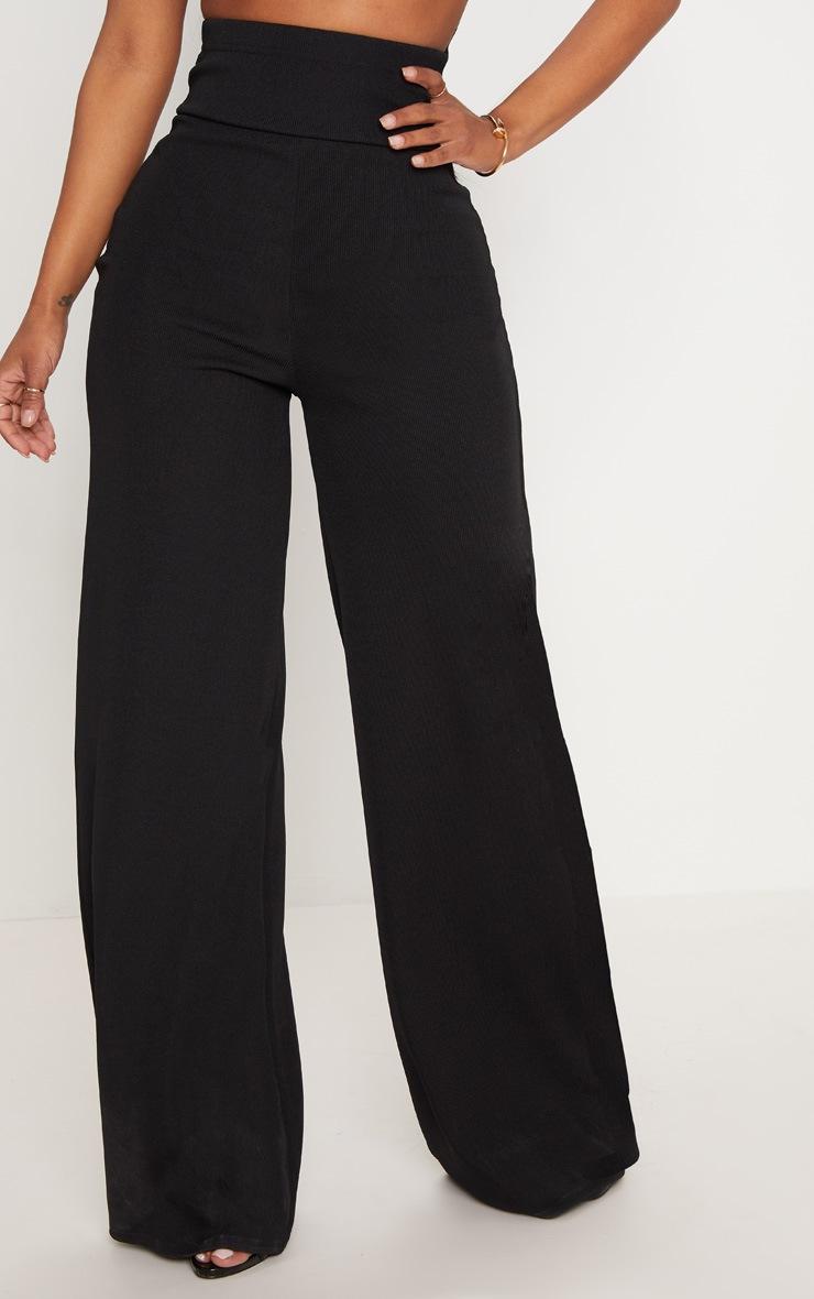 Shape Black Bandage Extreme High Waist Wide Leg Trousers 2