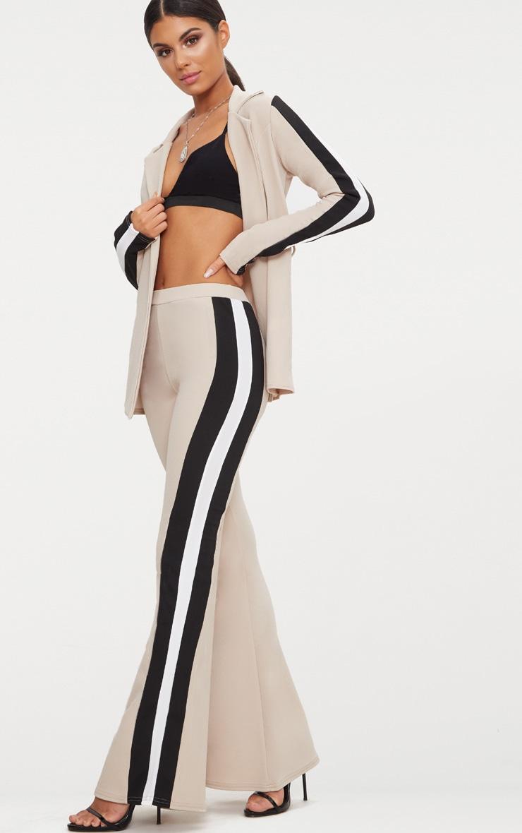 Stone Sport Stripe Flared Trouser  1