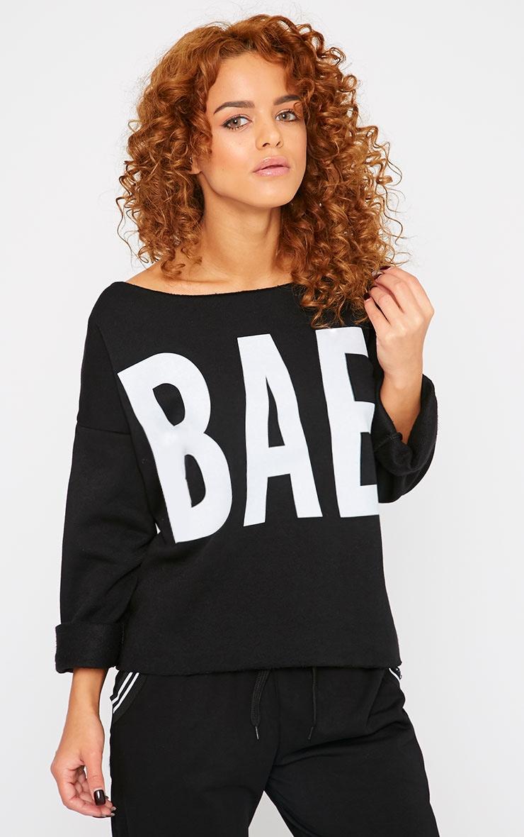 Sasha Black Bae Slogan Sweater  4