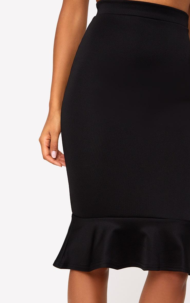 Black Fishtail Midi Skirt 5